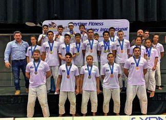 La délégation calédonienne et ses médaillés, en Australie. Photo Ligue calédonienne de judo
